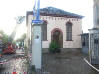 Synagoge nach dem Brand